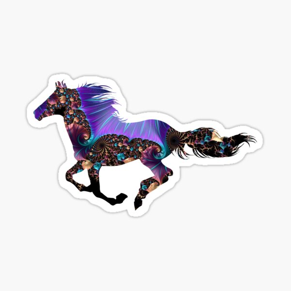 Fanciful Horse Sticker