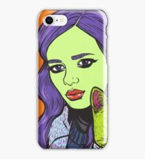 Girl with Cat iPhone Case/Skin