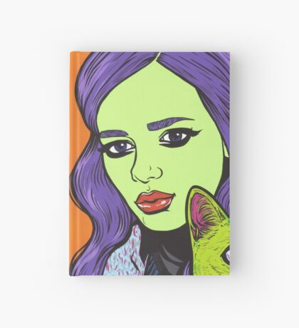 Girl with Cat Hardcover Journal