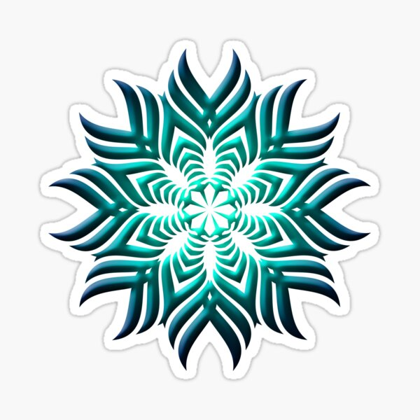 Mandala 3D Fantasy Sticker