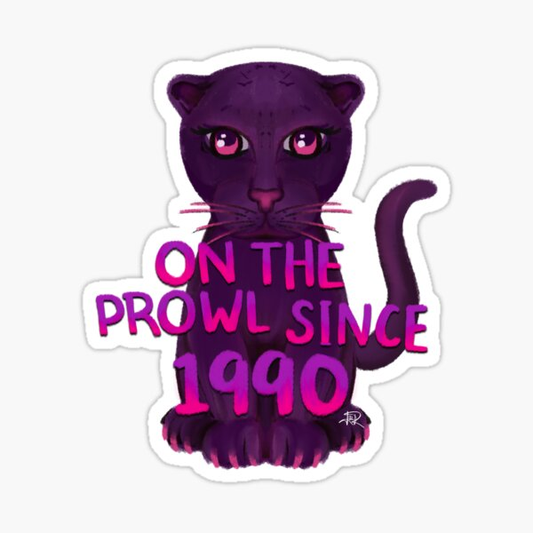 On The Prowl Purple Panther Sticker