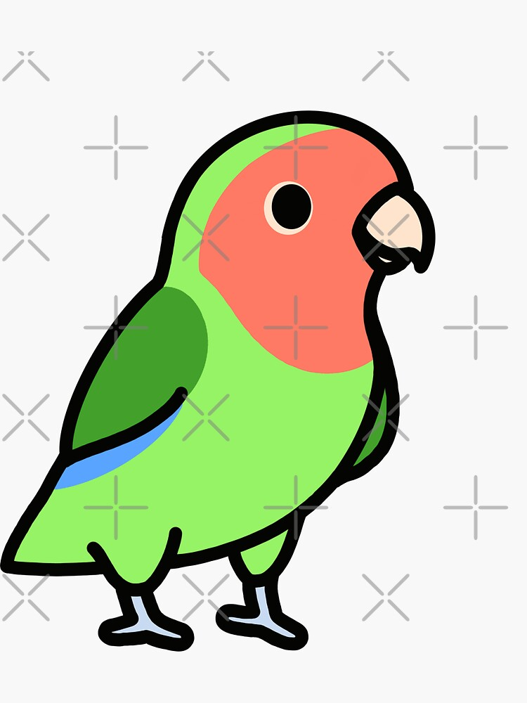 Peach-Faced Lovebird by littlemandyart