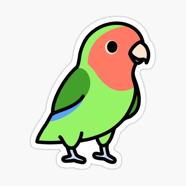 Peach-Faced Lovebird Sticker
