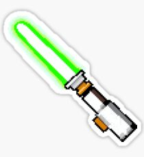8bit lightsaber Sticker