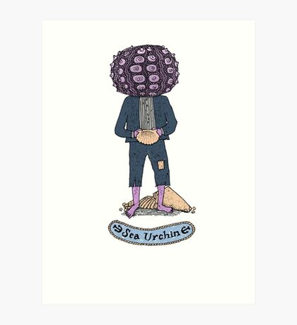 Sea Urchin Beach Boy Art Print