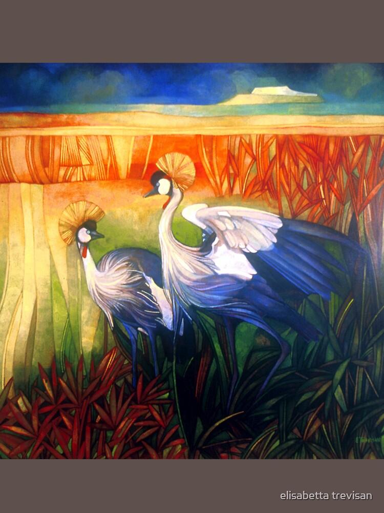 """crane """"balearica pavonina"""" by betta"""