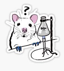 Chemistry Rat Sticker