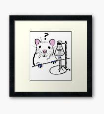 Chemistry Rat Framed Print