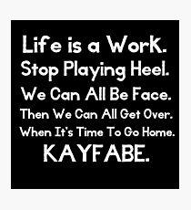 Kayfabe - Biz Terms Photographic Print