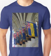 Colourful Flags, Exeter Cathedral, Devon Unisex T-Shirt