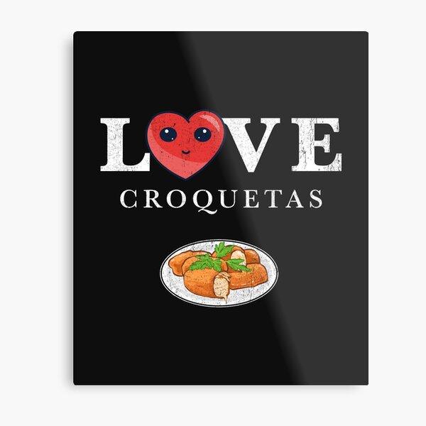 Estampado Cuban Croquetas Lovers Lámina metálica