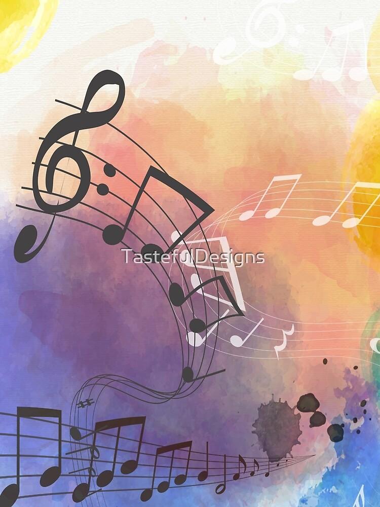 Watercolor Musical Note Symbols by TastefulDesigns