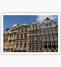 Postcard from Brussels - Grand Place Facades Sticker