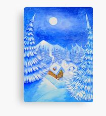 A little house in the snow Canvas Print