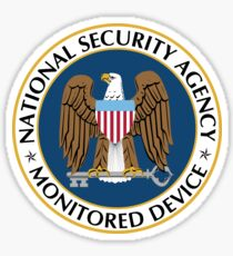 NSA Monitored Device - High Definition! Sticker