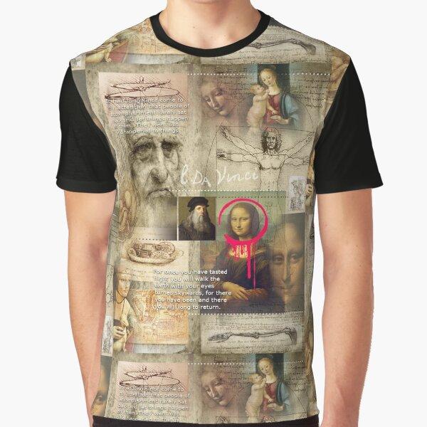 Léonard de Vinci T-shirt graphique