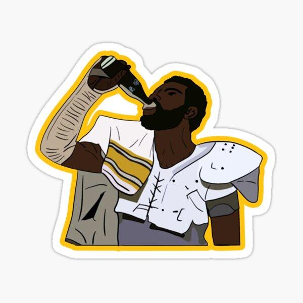 THE MEAN JOE DRINKING SODA STICKER AND SHIRT  Sticker
