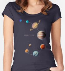 Solar System  Women's Fitted Scoop T-Shirt