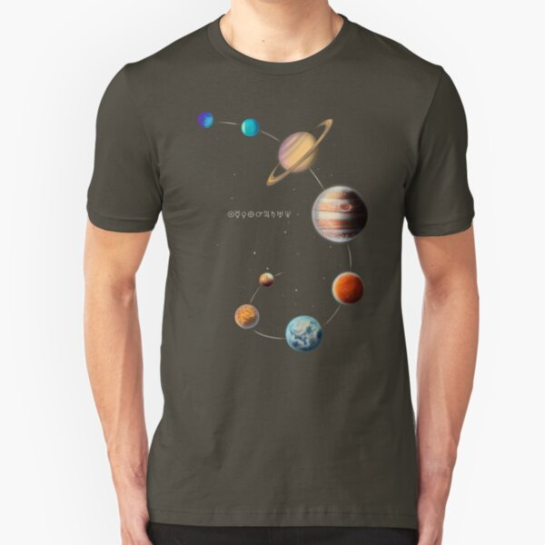 Solar System  Slim Fit T-Shirt