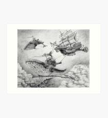 Wind Whales Art Print