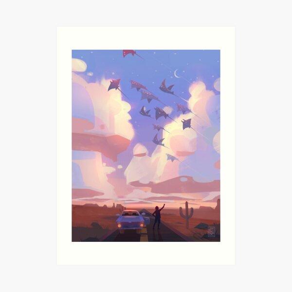 Twilight Rays Art Print