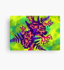 Coral Carnation - Green/Purple/Pink Canvas Print