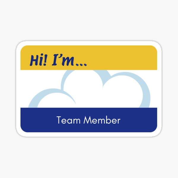 Superstore Blank Name Tag Sticker