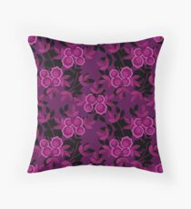 Floral seamless pattern with flowers texture gzhel Throw Pillow