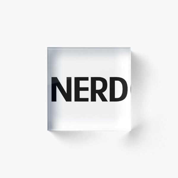 Nerd Acrylic Block