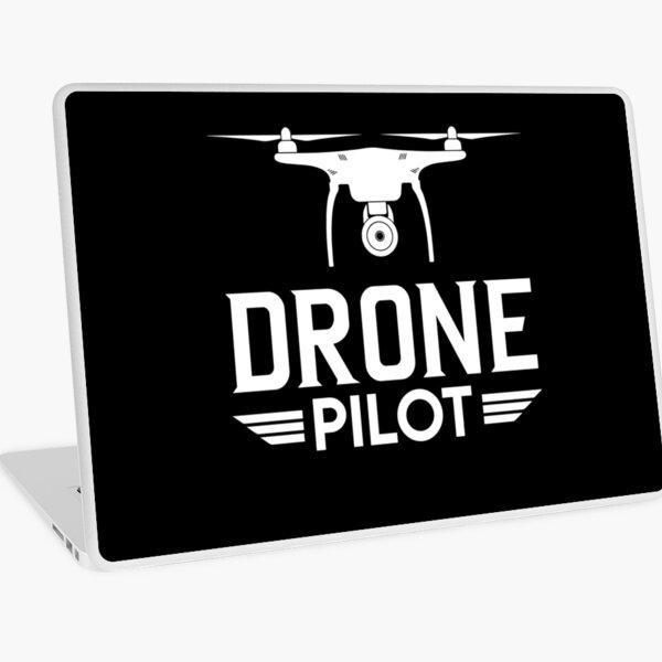 Drone Pilot Tshirt and Merchandise Laptop Skin
