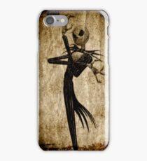 Nightmare skelleton - Wood,Old paper texture - iPhone Case/Skin
