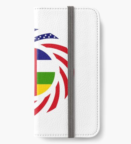 Central African Republic American Multinational Patriot Flag Series iPhone Wallet