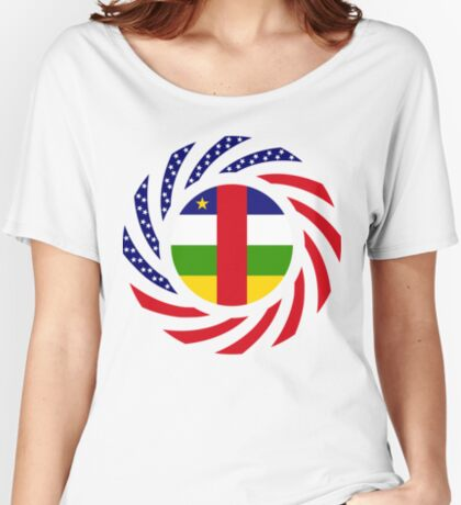 Central African Republic American Multinational Patriot Flag Series Relaxed Fit T-Shirt