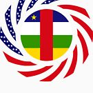Central African Republic American Multinational Patriot Flag Series by Carbon-Fibre Media