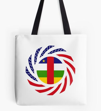 Central African Republic American Multinational Patriot Flag Series Tote Bag