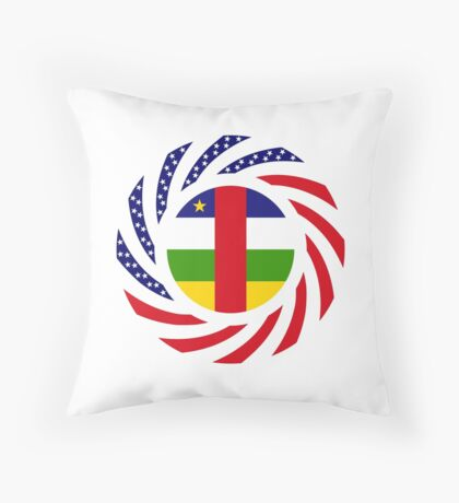 Central African Republic American Multinational Patriot Flag Series Throw Pillow