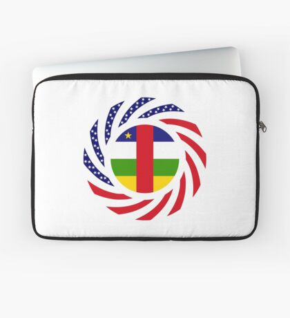 Central African Republic American Multinational Patriot Flag Series Laptop Sleeve