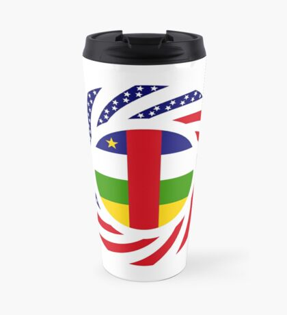 Central African Republic American Multinational Patriot Flag Series Travel Mug