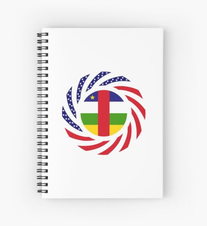 Central African Republic American Multinational Patriot Flag Series Spiral Notebook