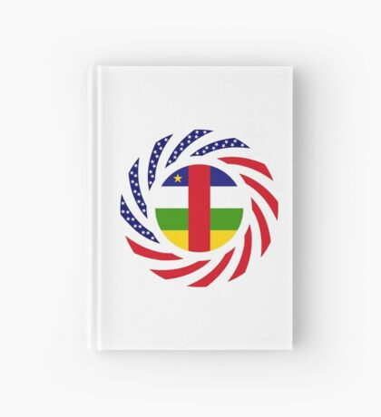 Central African Republic American Multinational Patriot Flag Series Hardcover Journal