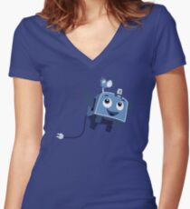 The Brave Little Toaster Goes To The Surface! Women's Fitted V-Neck T-Shirt