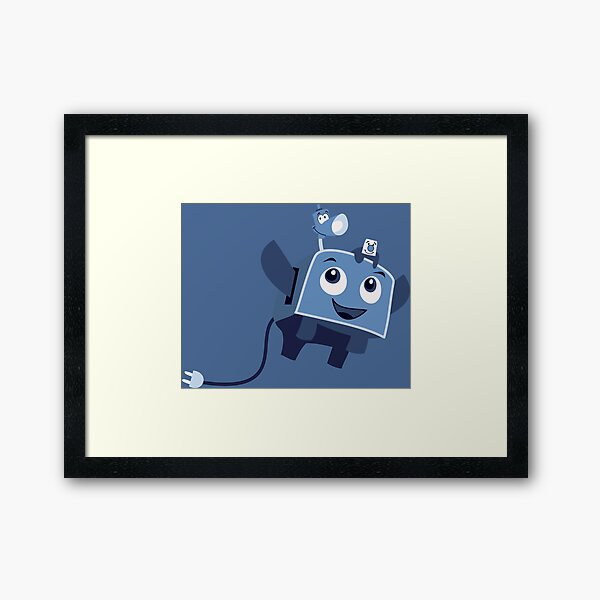 The Brave Little Toaster Goes To The Surface! Framed Art Print