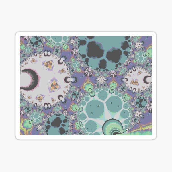 Mint Green Fractal Patterns Sticker