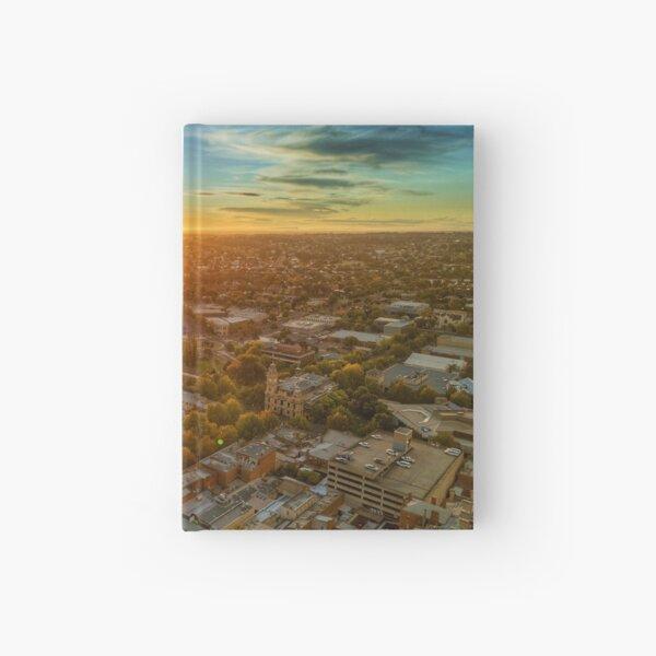 Sunrise Bendigo CBD - Aerial View Hardcover Journal