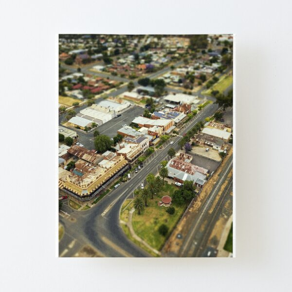 Rochester Victoria - Aerial View of CBD and Silo Canvas Mounted Print