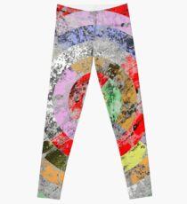 Marble Bullseye - Abstract Geometric Marble Patterned Art Leggings