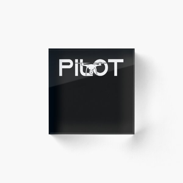 Drone Pilot Tshirt and Merchandise - Simple Layout Acrylic Block
