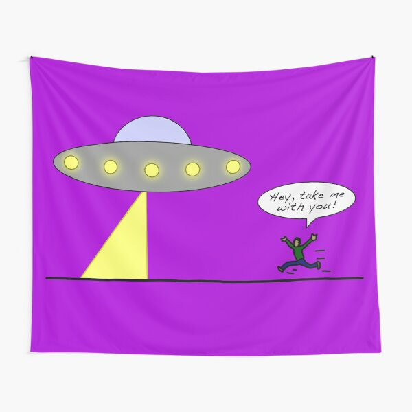 UFO: Take Me With You! Tapestry
