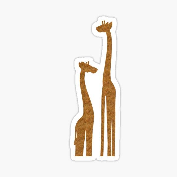Cute Giraffe silhouettes digital art Sticker