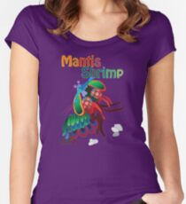 Mighty Mantis Shrimp Women's Fitted Scoop T-Shirt